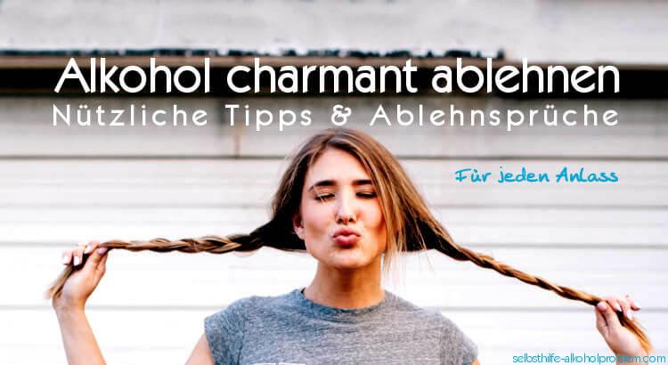 Beitragsbild Alkohol ablehnen