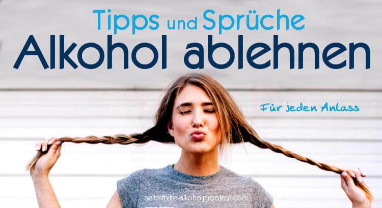 Beitragsbild: Alkohol ablehnen